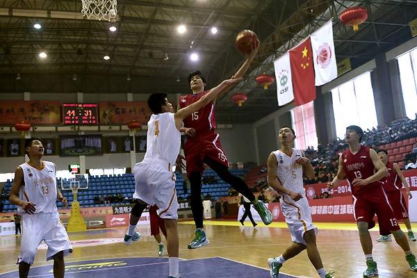 全国初高中篮球联赛南区赛在长沙明德中学举办