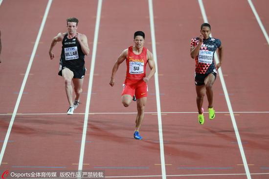 苏炳添2018赛季首秀6秒55 德国室内赛60米夺冠