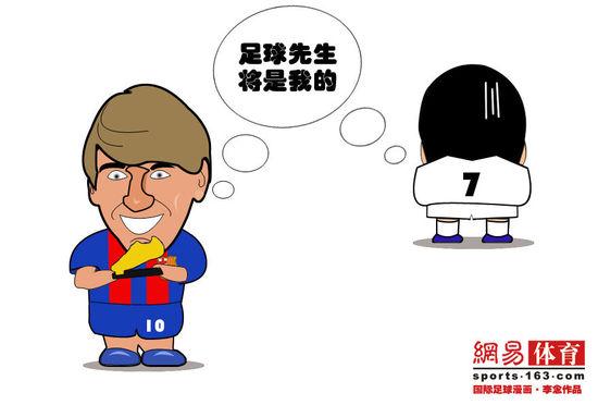 金靴:梅西手握欧洲漫画欲虎视球C罗亦夺金眈糖漫画图片的吃图片