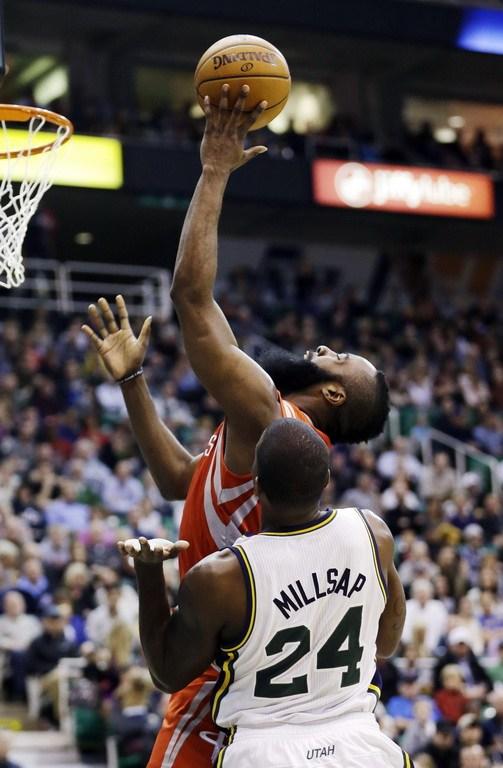 2013年1月29日,NBA常规赛,火箭VS爵士.-5中5 火箭生涯首度保持图片