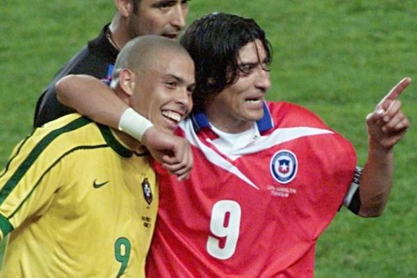 1998年世界杯上,大罗与萨莫拉诺相遇,国米两大射手在世界杯...
