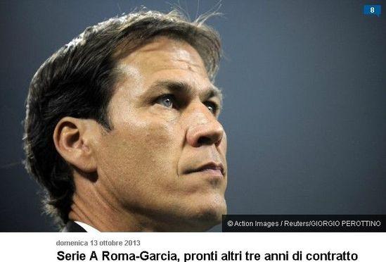 罗马体育报 罗马将加薪续约加西亚