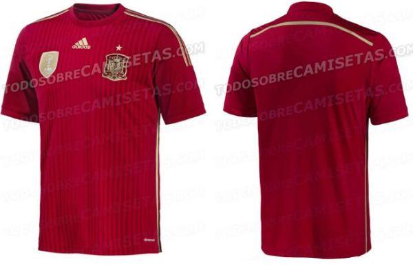 西班牙队世界杯球衣遭曝