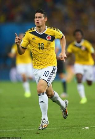 乌拉圭主帅:J罗比肩马拉多纳 他是世界最佳球员