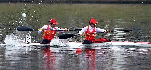 垒球:皮划艇女子500米双人图文河北队v垒球中南京哪里玩皮艇图片