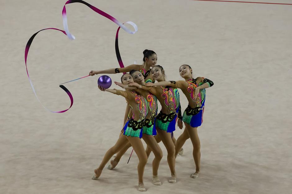 高清:艺术体操世界杯中国夺冠 长腿魅影如精灵