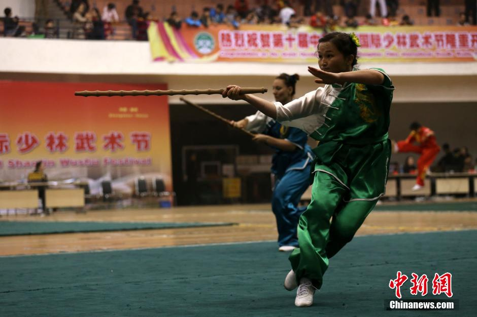 高清:郑州武术节 武当内家秘传绝学虎尾鞭亮相