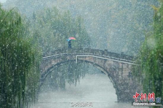 太美了!杭州初雪西湖如梦似幻 天然水墨画(图)
