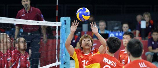 聚焦残奥:坐式排球中国队赛前训练