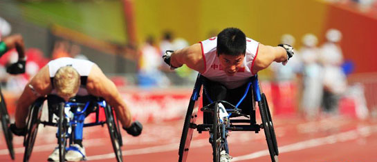 张立新成为伦敦残奥会开幕式中国团旗手
