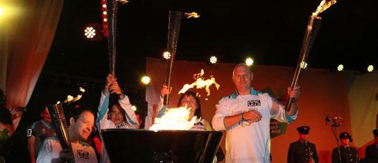 伦敦残奥会举行圣火点燃仪式和火炬传递