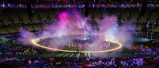 高清大图:伦敦残奥会闭幕式举行