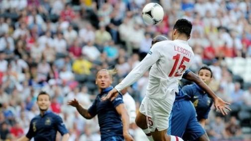 欧洲杯D组:法国1-1英格兰